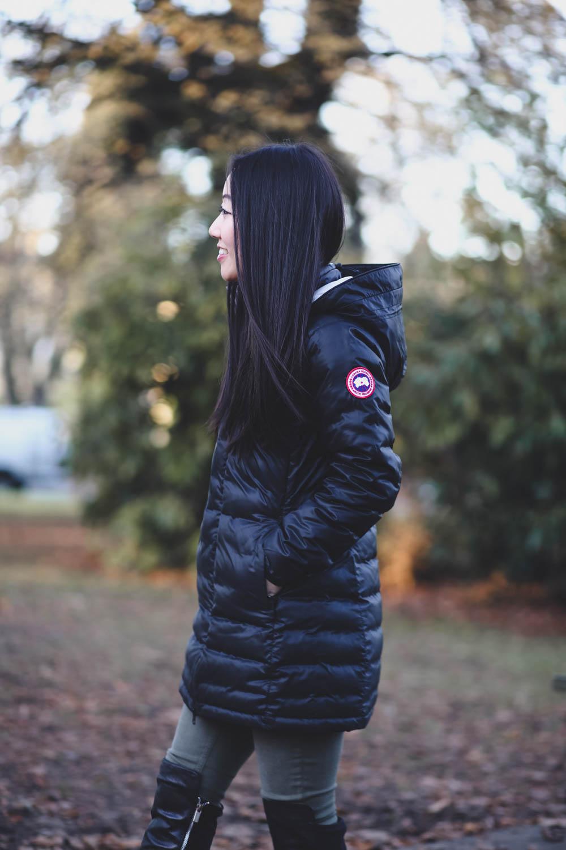 canada goose camp hooded jacket black
