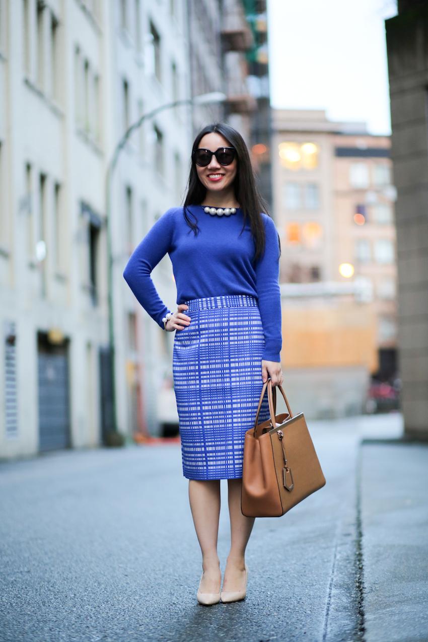 Vancouver fashion blogger petite corporate style