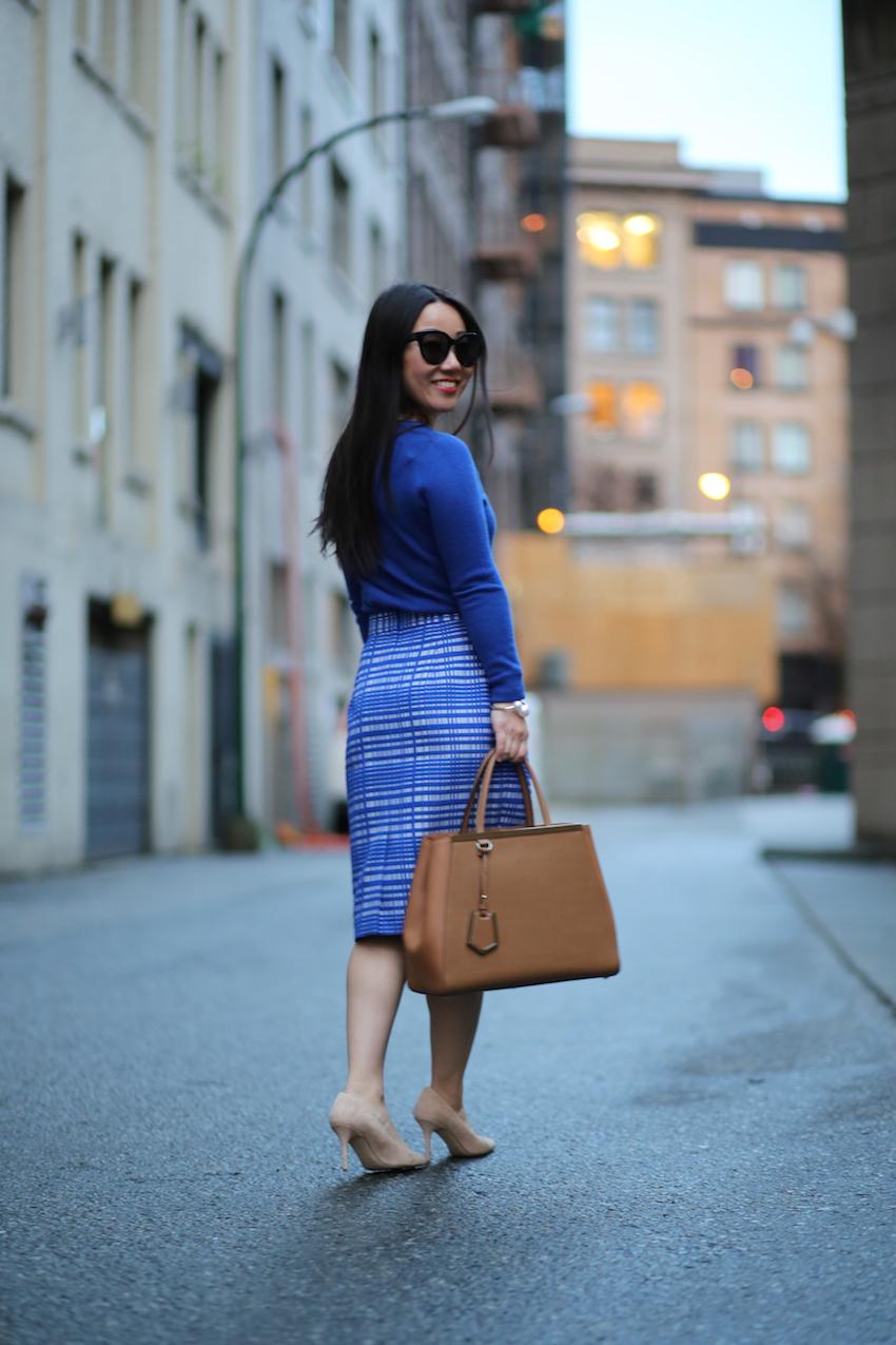Fendi 2jours tote workwear blogger