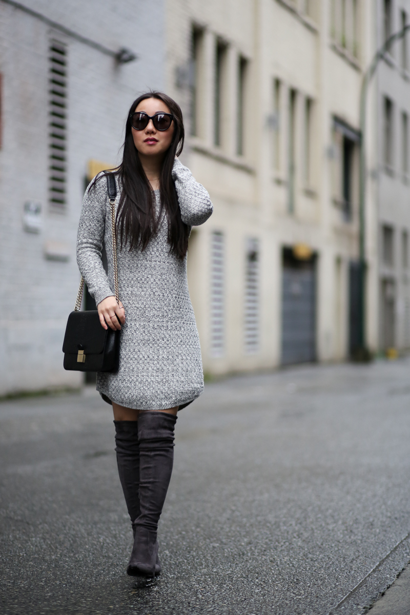 loft cozystitch sweater dress fashion blog
