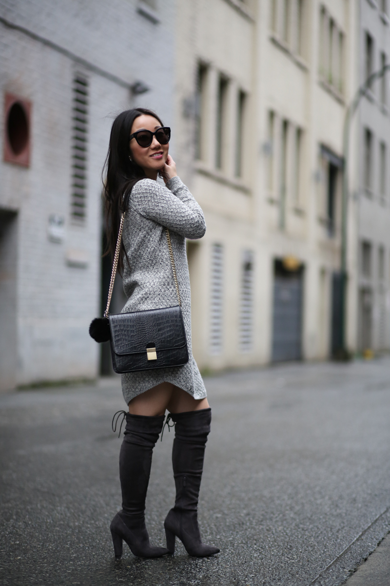 Boohoo tia block heel over the knee boots