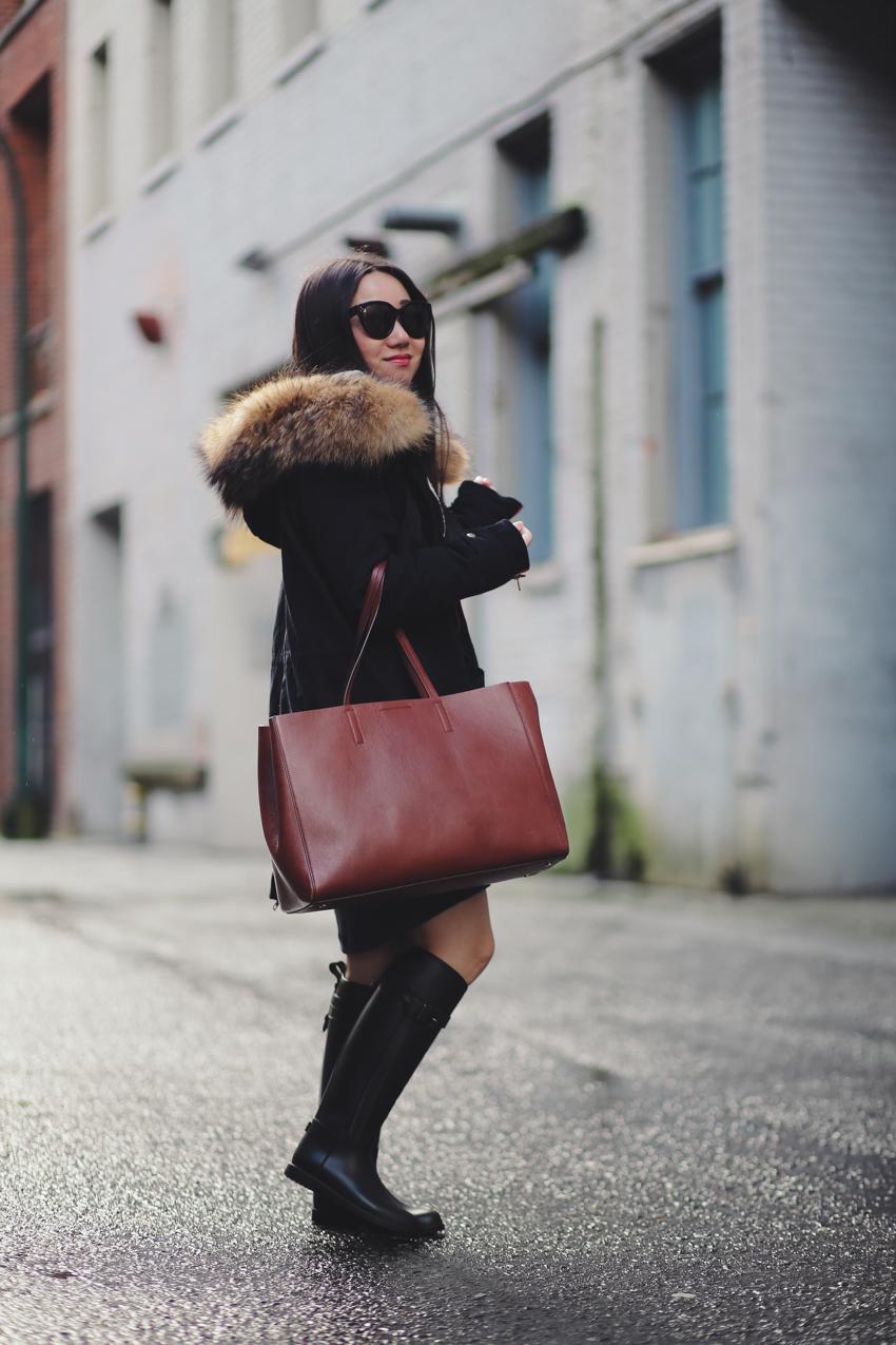 Minusey fur parka style blogger Jenny Liu