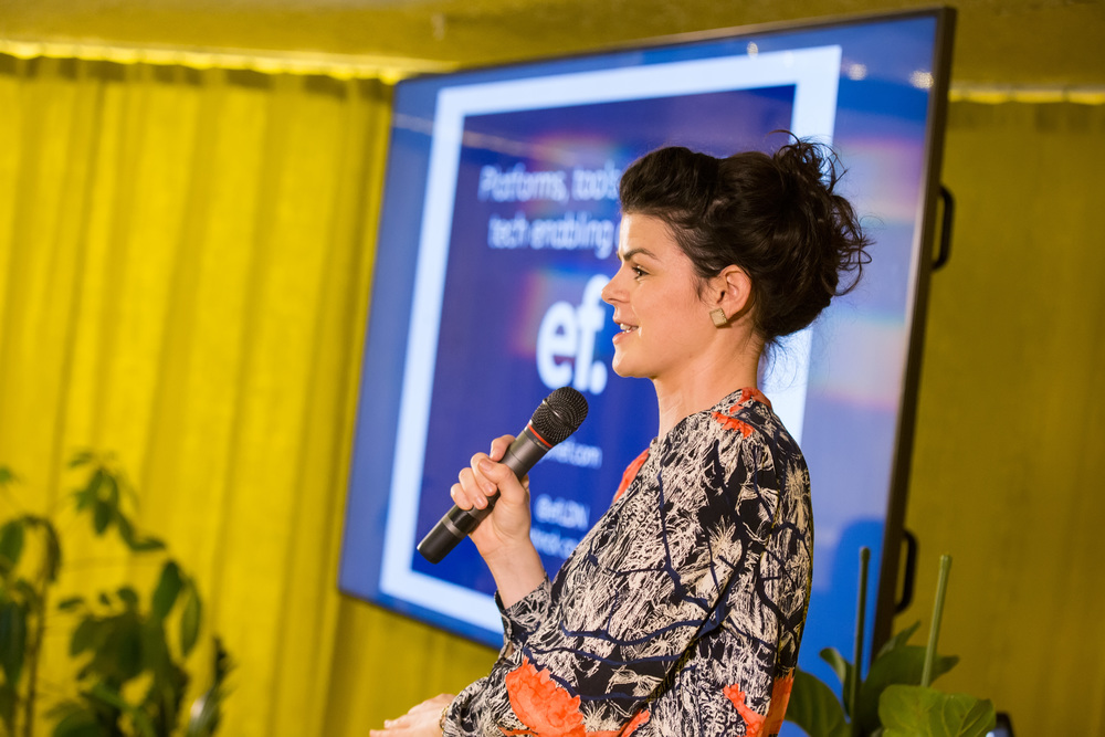 We had incredible speakers, including Alice Bentinck from Entrepreneur First...