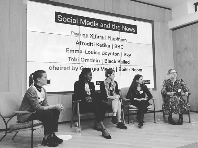 What a great lineup on this panel. Such an important topic in today's day and age. #ggm17 #tech #news #fakenews #socialmedia #womanintech