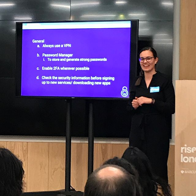 Top #cybersecurity tips related to your #data from @mariella.rosa at #GGM18. How many can you tick off?
