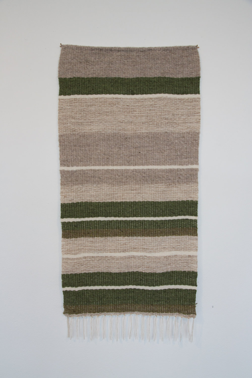 Vefa (After Halldora) 2  2016, hand-woven Icelandic wool.  Photograph by Yvonne Doherty at Cirrus Photography.