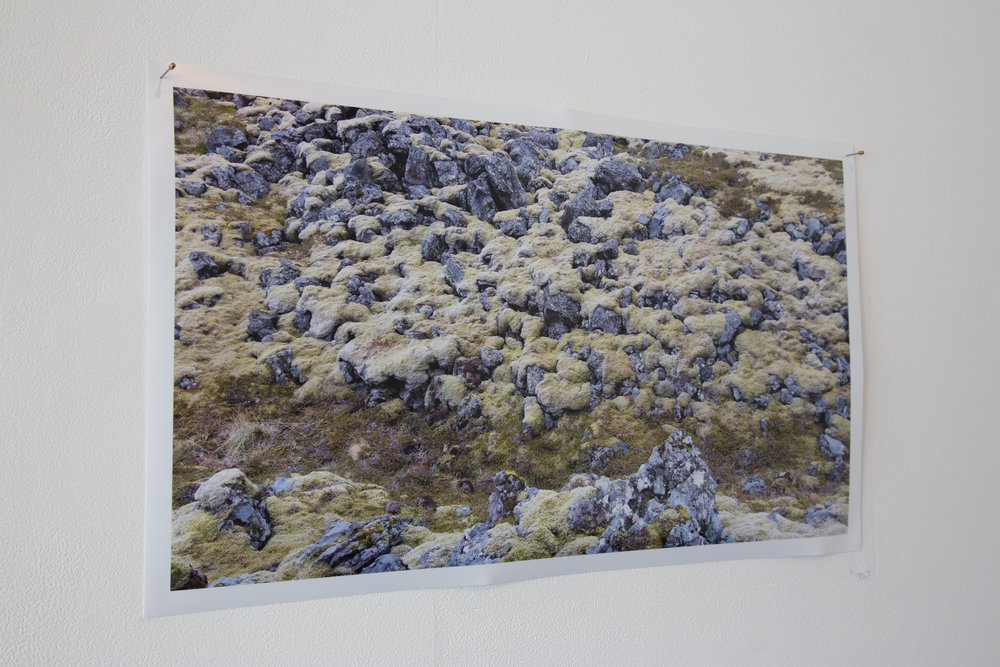 Moss &  Stone (Hellnar)  2016, Giclee print on metallic paper.  Photograph by Yvonne Doherty at Cirrus Photography.