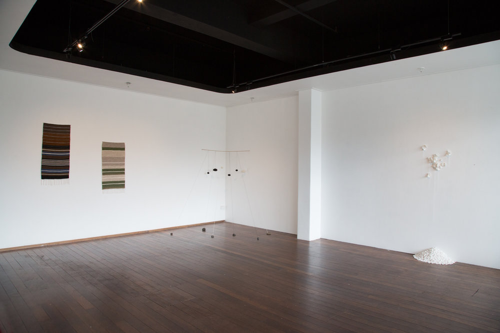 Installation view,  Asking the Stones Where to Begin.    Photograph by Yvonne Doherty at Cirrus Photography.