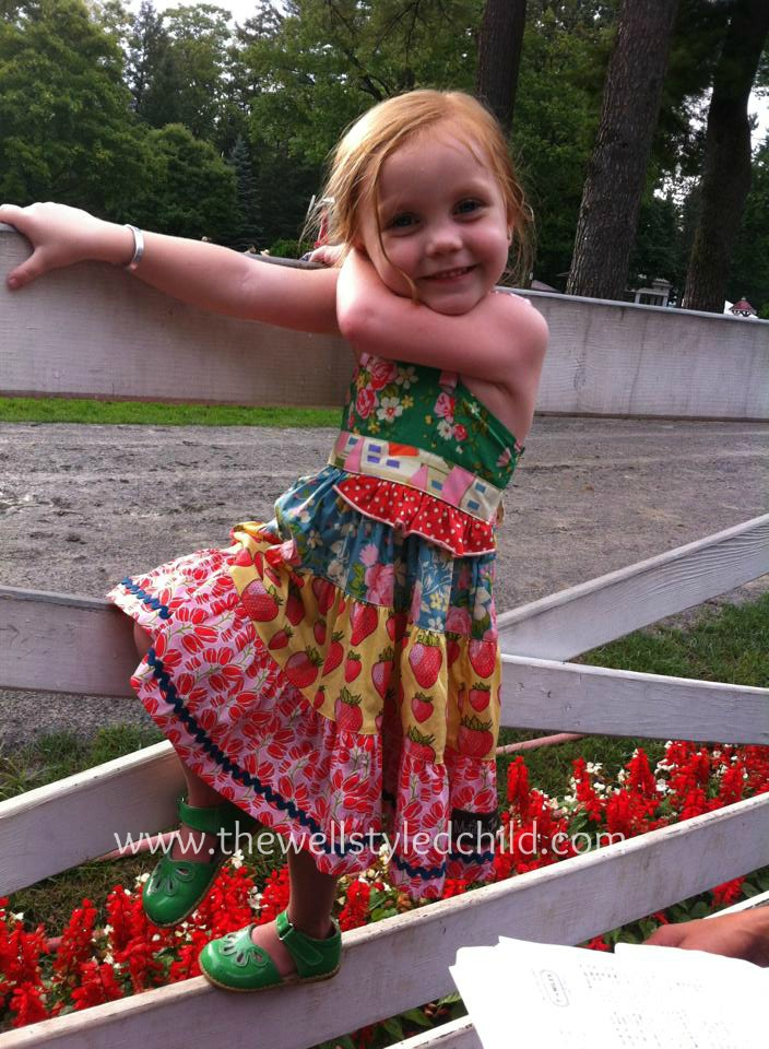 This is our little friend Kylie modeling some of her Matilda Jane!  She and her mama are our BFF Fashionistas!