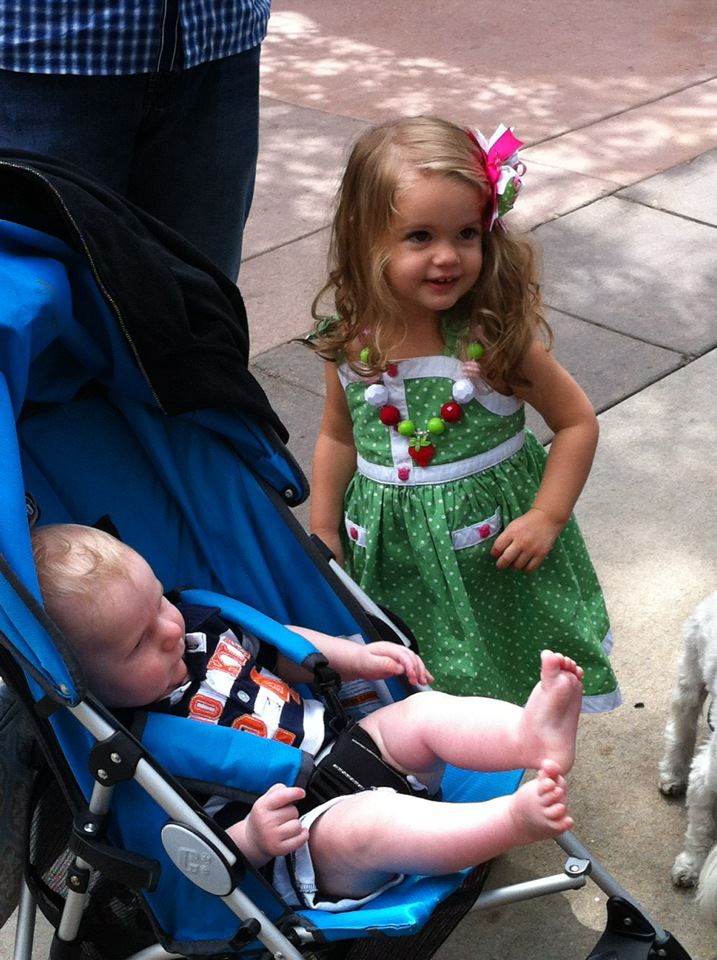 Holiday with her Baby Cousin Cody in Estes Park!