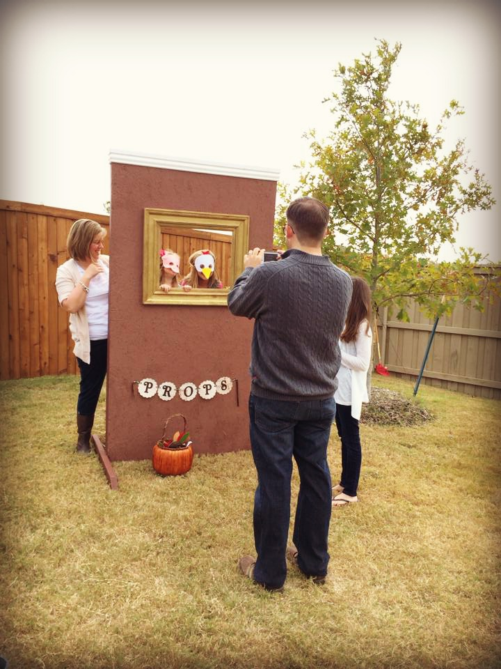 Photo Booth-- thanks Dad!  My dad built this for Holiday's first birthday party!  As mentioned above, the masks are from Mahalo!