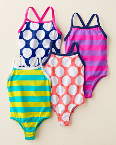 Garnet HIll Kids Wave Rider Cross Back Swimsuits