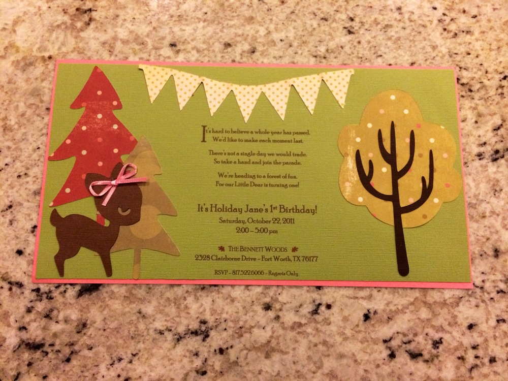 Back of Invitation