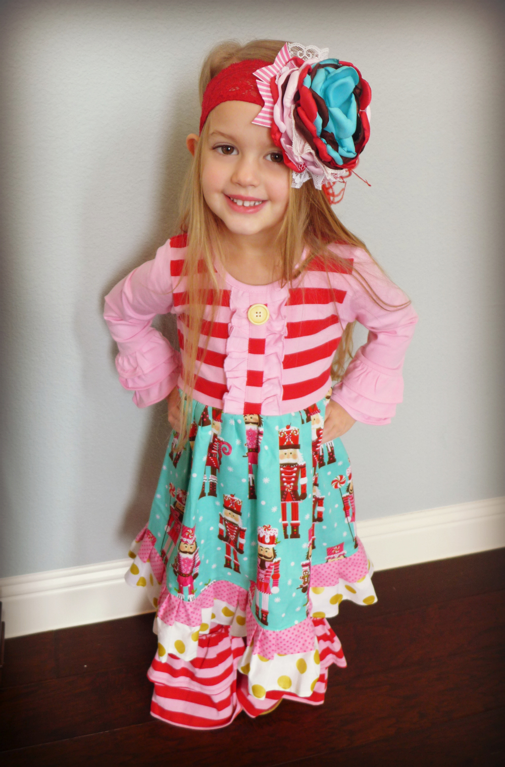 Custom Headband by Appelilly Couture, Nutcracker Outfit from MOMI Boutique