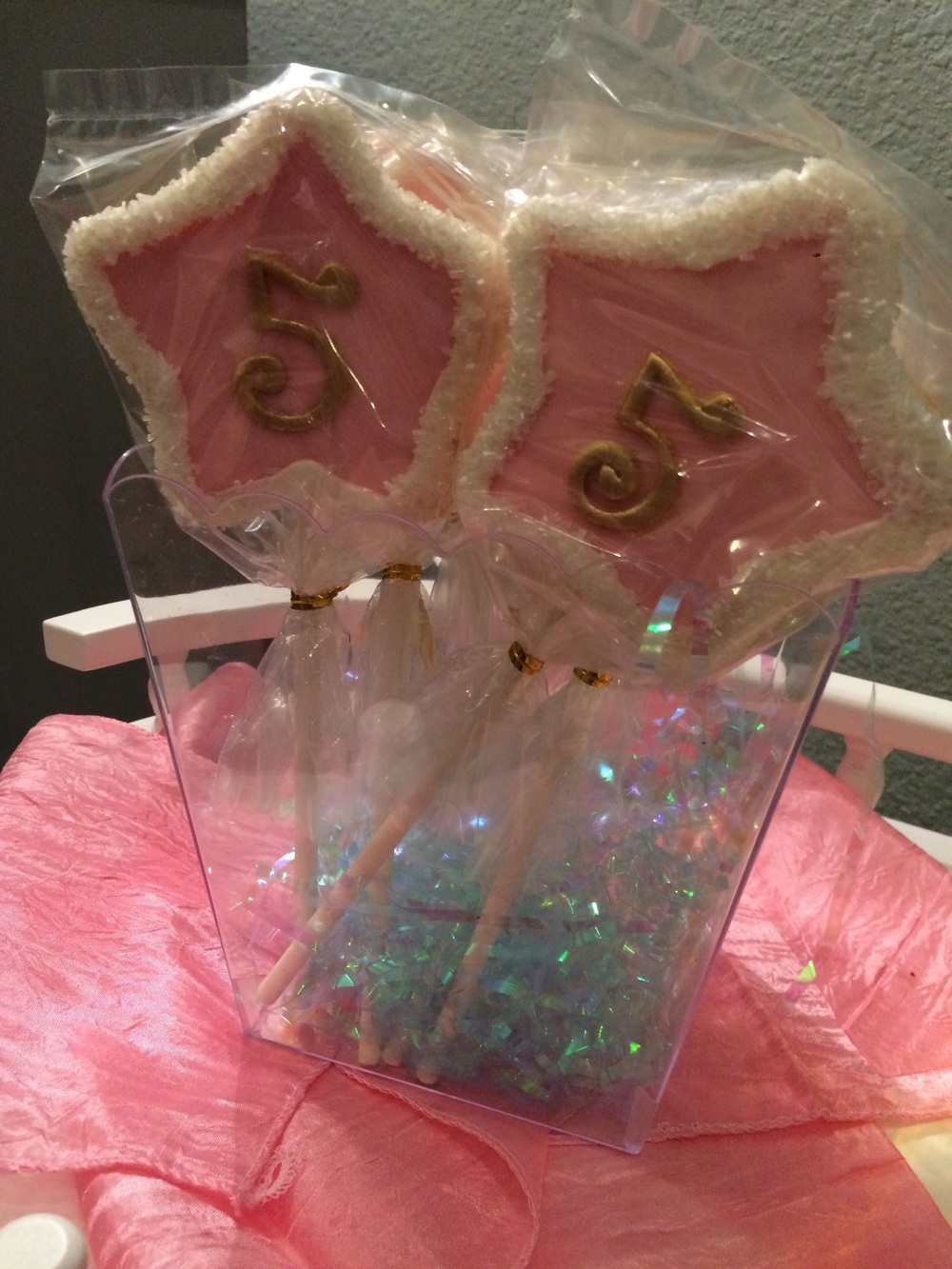 These #5 Fairy Wand Cookies were at each place setting for the girls to take, also made by It's A Mary Cake!