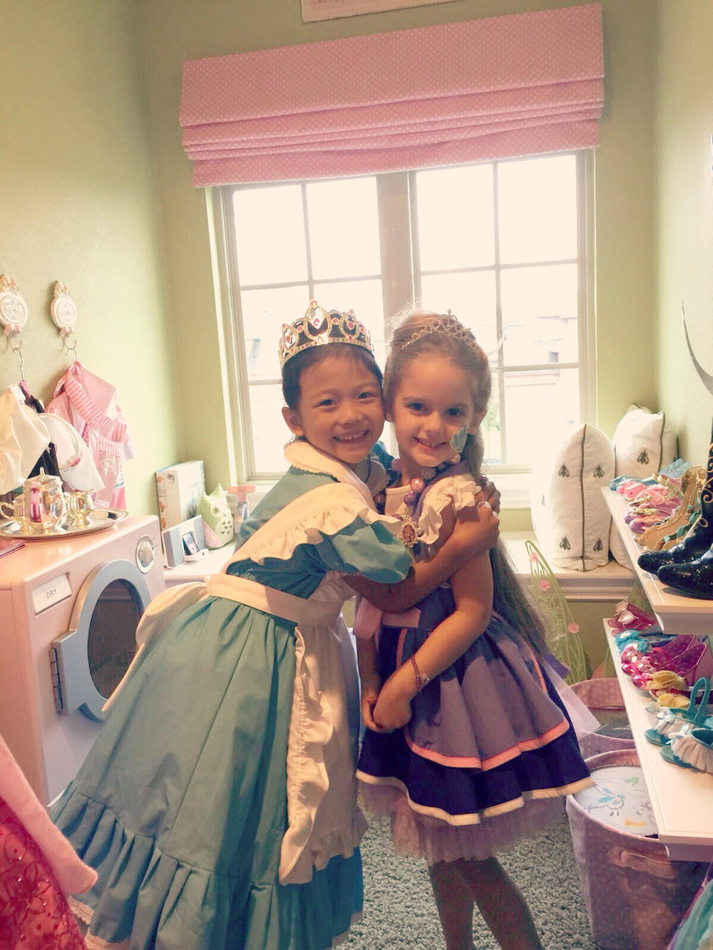 Lots of play time afterwards! Holiday and her sweet friend Alyssa
