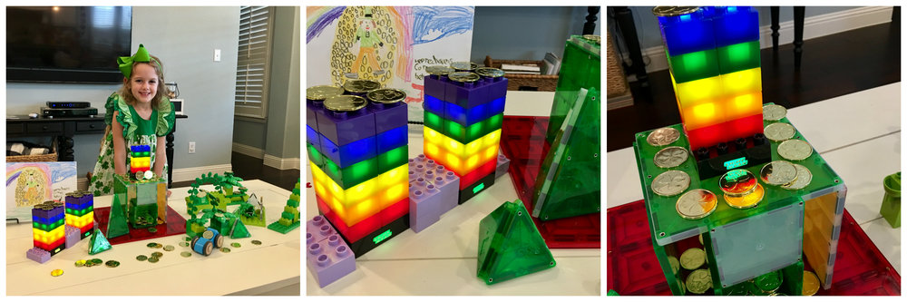 Holiday used her Light Stax to make rainbows for her leprechaun trap on St. Patrick's Day!