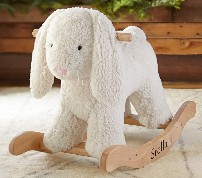 Pottery Barn Kids Sherpa Bunny Rocker
