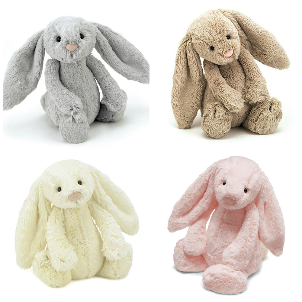 Jellycat Bashful Bunny (pictured is the size medium, 12 inch, more selections here)