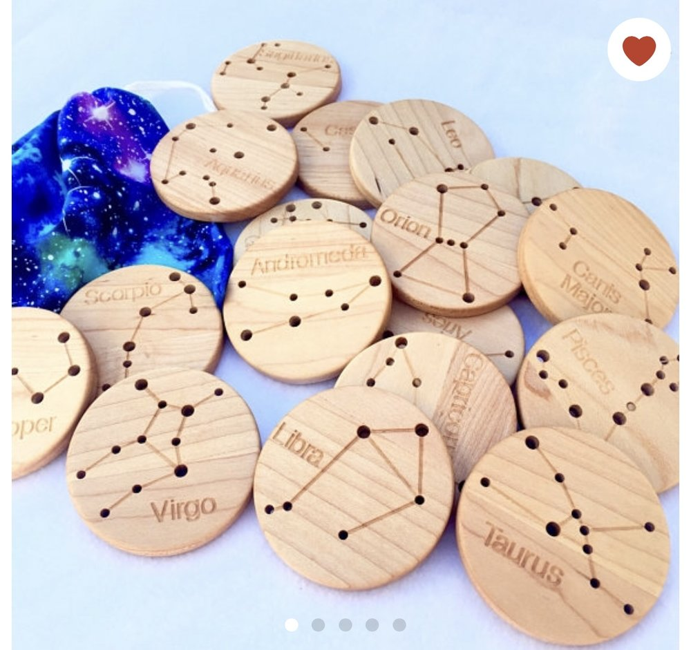 FromJennnifer Wooden Constellation Coins