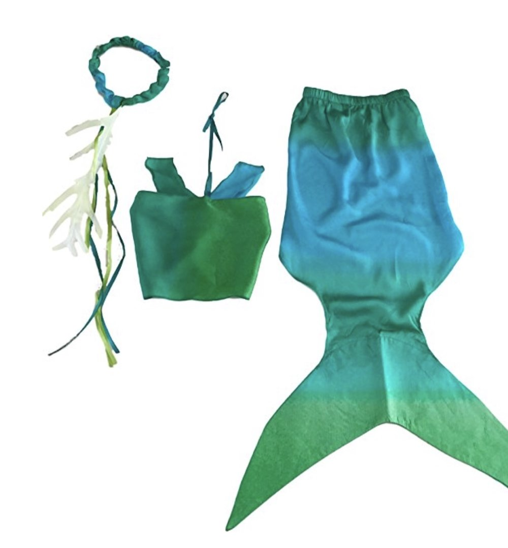 Sarah's Silks Mermaid Costume Size Large (6-9 years)  NOTE: Find the SMALL VERSION  (3-6 years) HERE