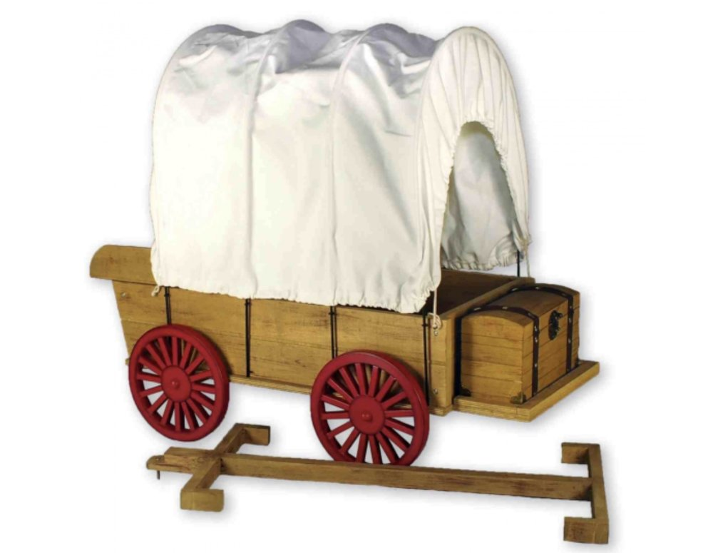 The Queen's Treasures Little House Covered Wagon, Sleigh and Trunk