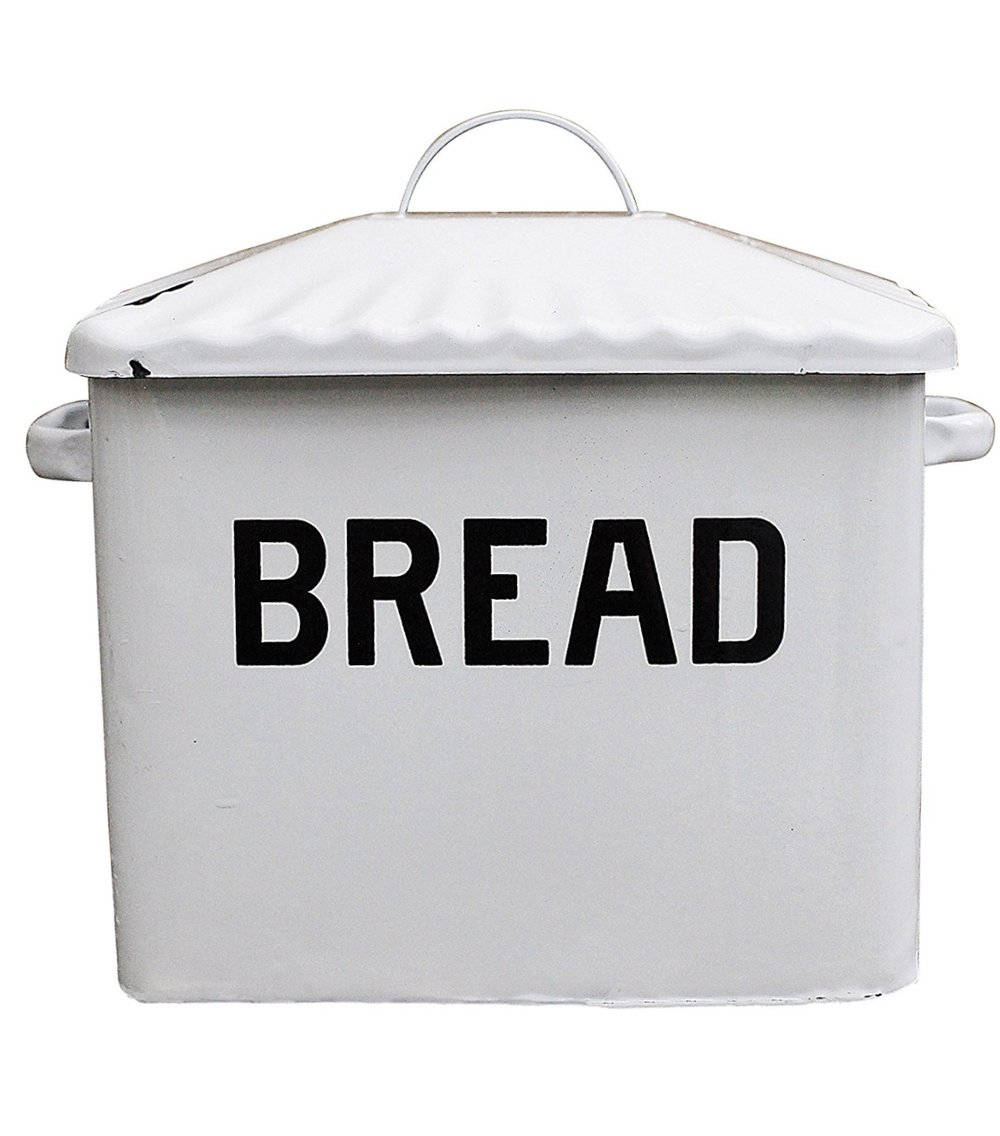 Creative Co-Op Enameled Bread Box