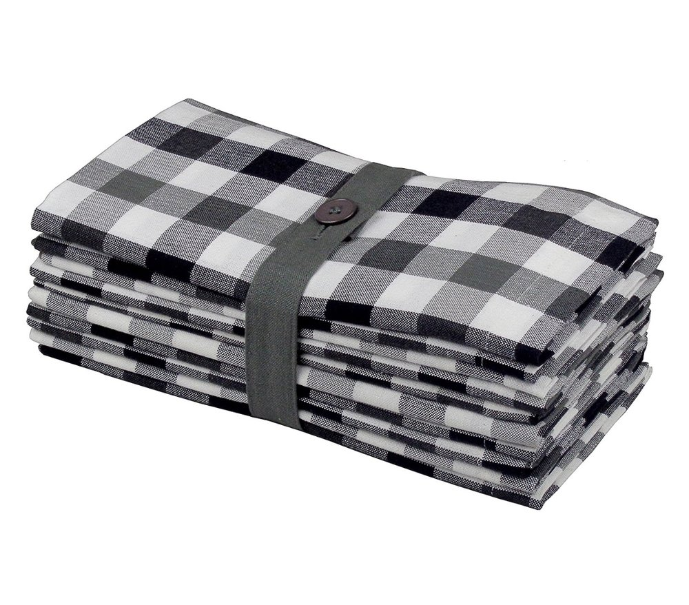 LA Linen 10Pack Buffalo Check Napkin