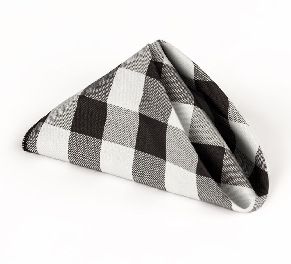 Another view,  LA Linen 10Pack Buffalo Check Napkin