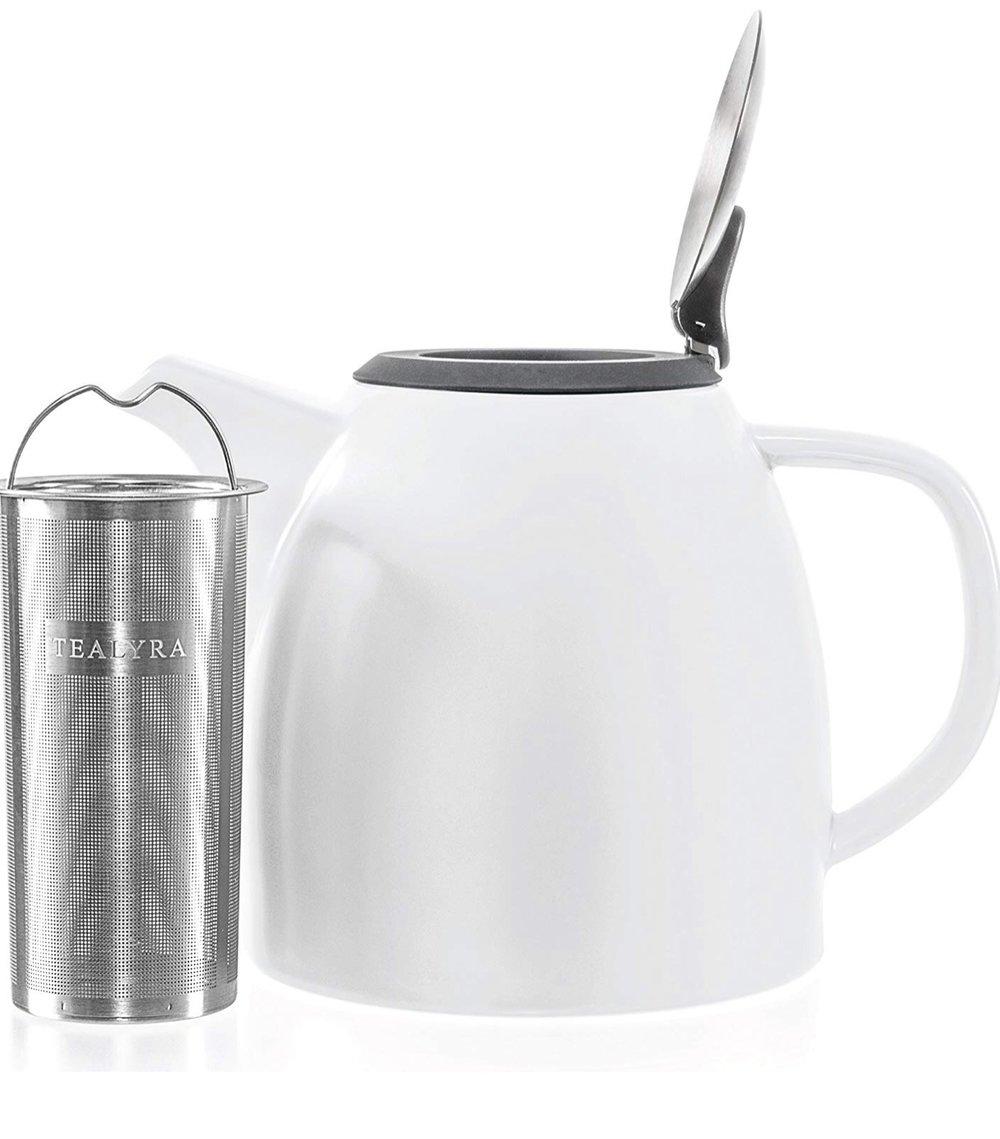 Tealyra Drago Ceramnic Teapot- White