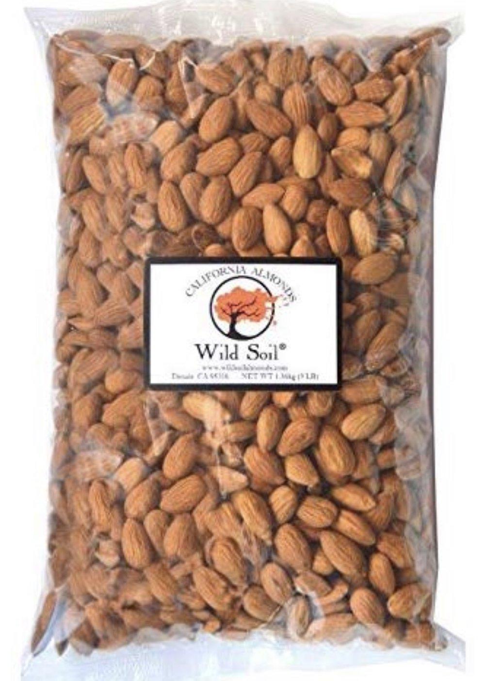 Wild Soil California Almonds- 3lbs
