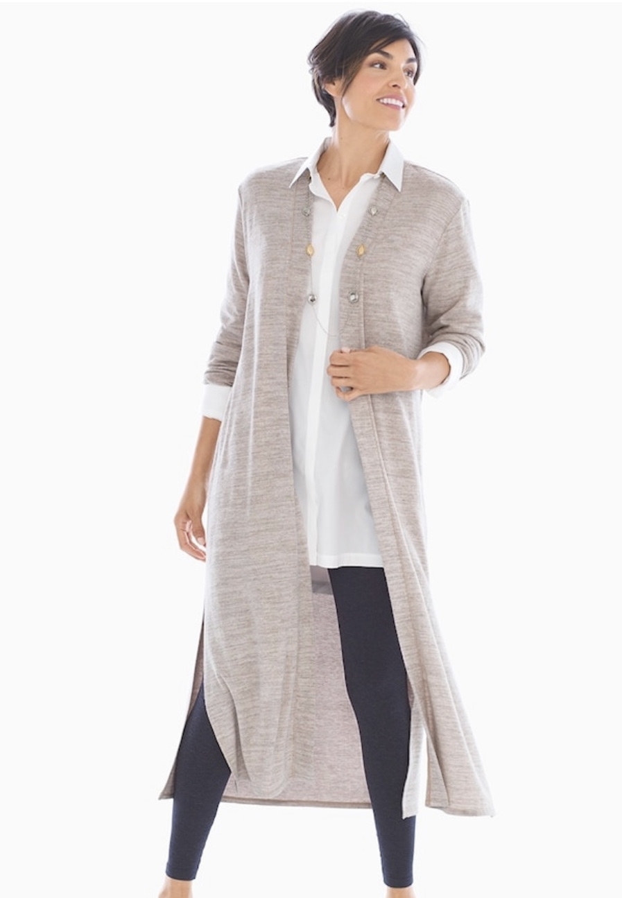 Soma Cozy Duster in Heathered Oatmeal