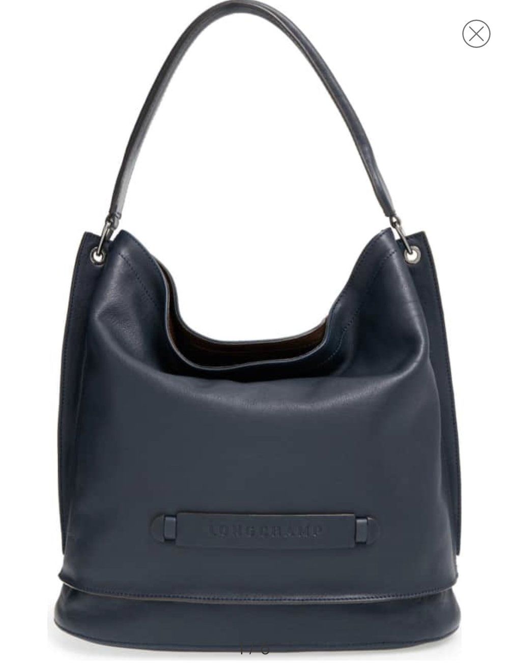 Longchamp 3D Leather Hobo- Midnight Blue