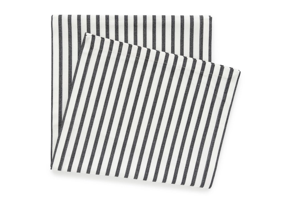 Sugar Paper for Target Black and White Stripe Table Runner