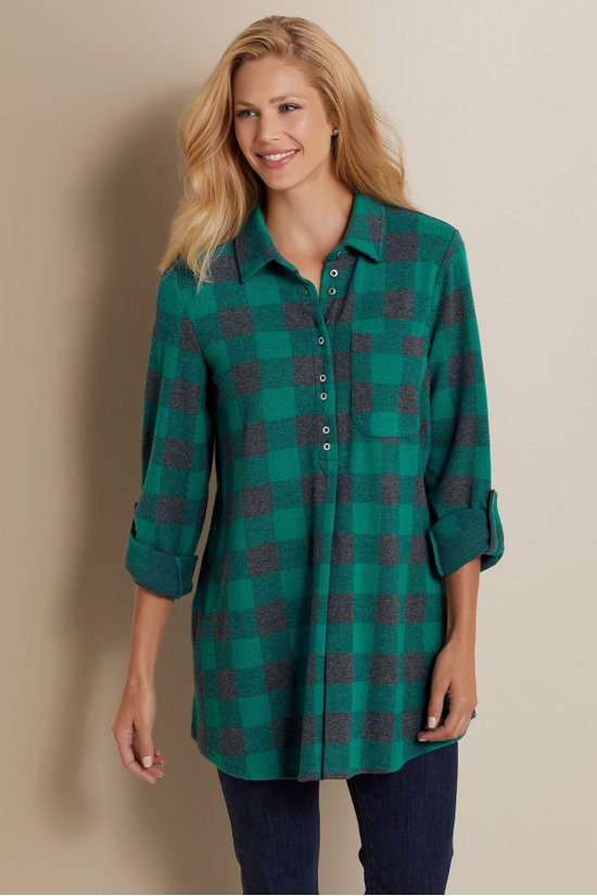Soft Surroundings- Mad About Plaid Tunic