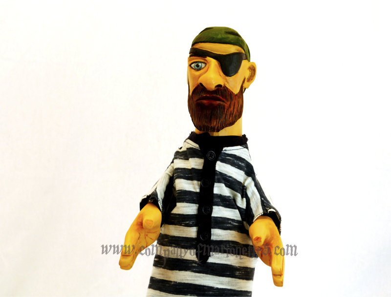 Carved Pirate Hand Puppet