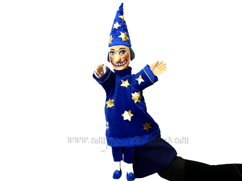 Special Commission - Wizard Hand Puppet (wooden)