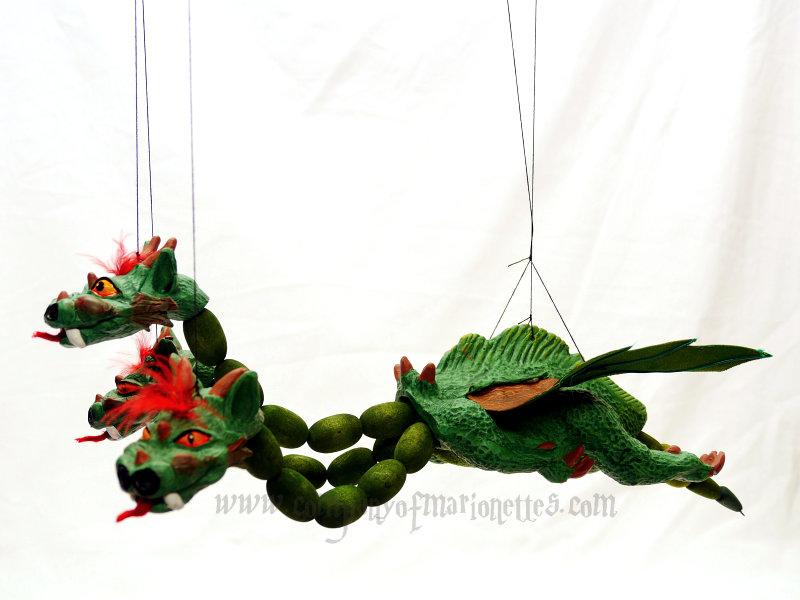 Three Headed Dragon Marionette