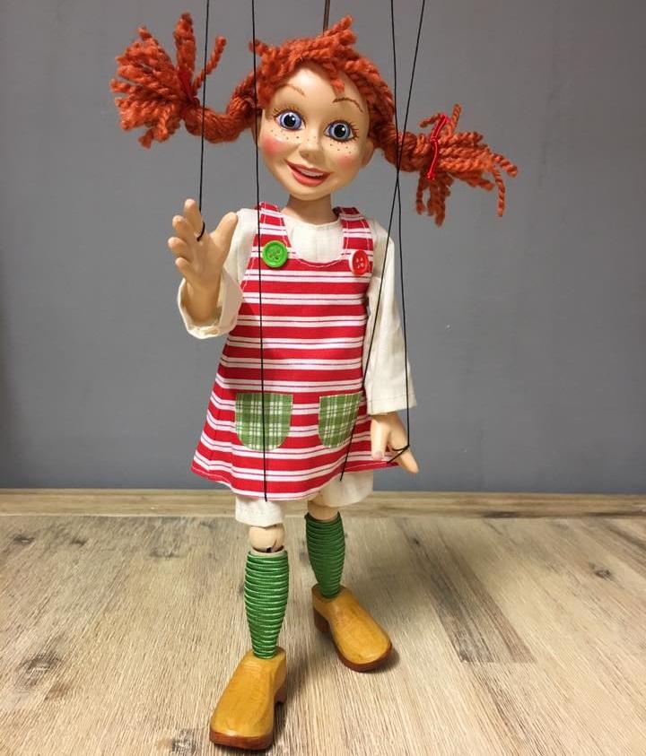 Girl (Pippi Longstocking) Marionette — Company of Marionettes ...