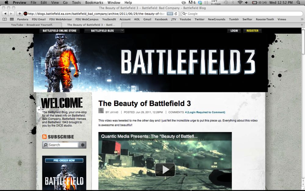 Featured on Battlefield's Homepage