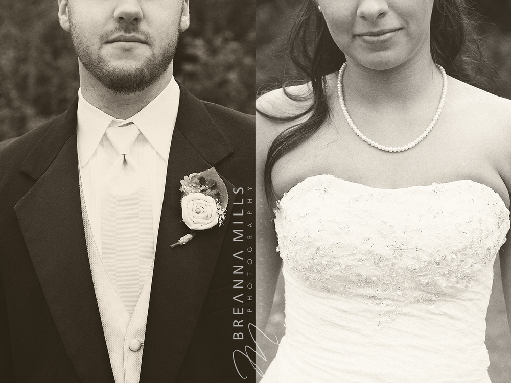 Johnson City Wedding Photographer, Breanna Mills Photography captures a bride and groom wedding portrait on their wedding day.