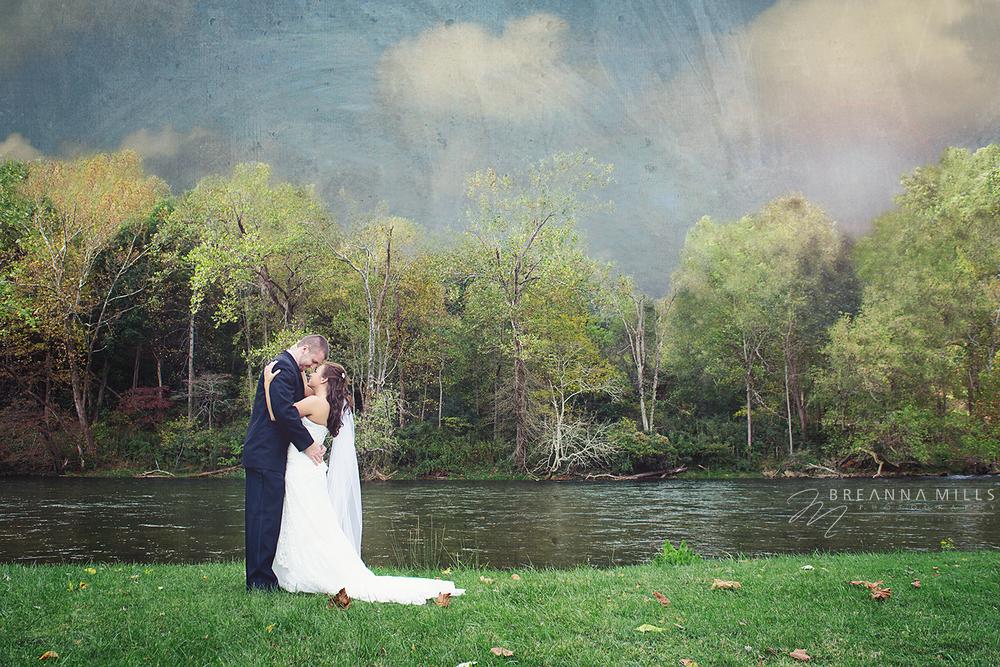 Johnson City Wedding Photographer, Breanna Mills Photography shoots creative bride and groom portraits on wedding day.