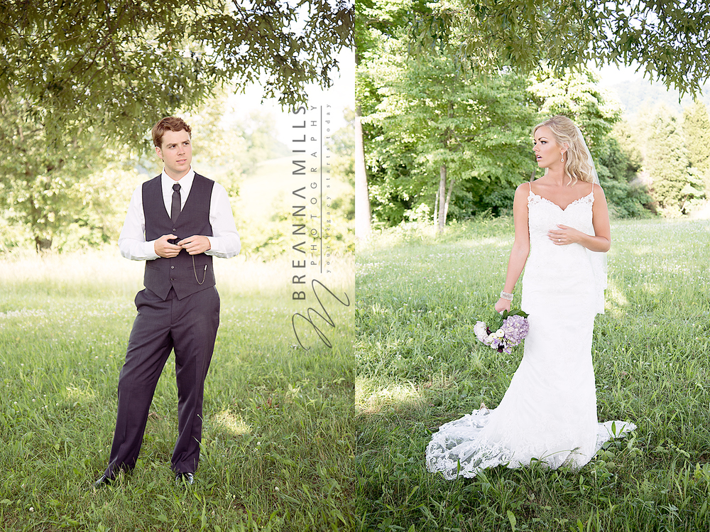 Johnson City Wedding Photographer Breanna Mills Photography captures formal portraits of the bride and groom on their wedding day at Corey Ippolito Winery and wedding venue.