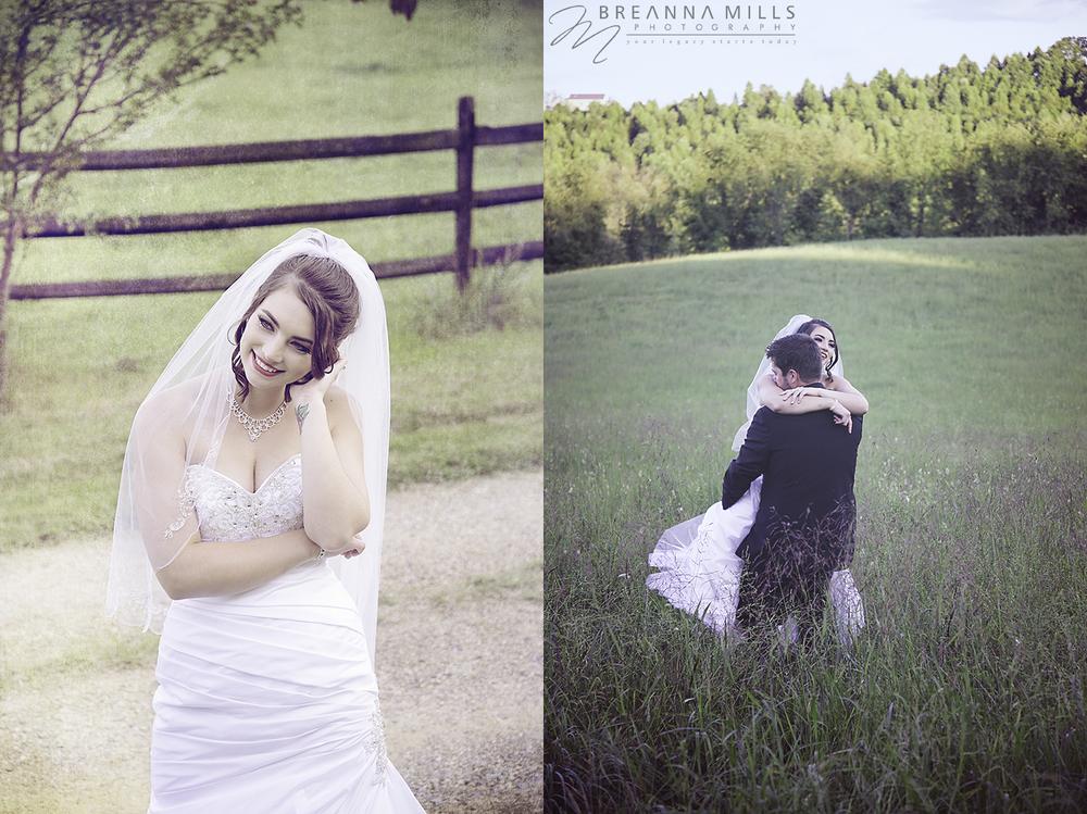 Johnson City, TN wedding photographer, Breanna Mills Photography photographs creative portraits of a bride and groom on their wedding day at Storybrook Farm wedding venue.