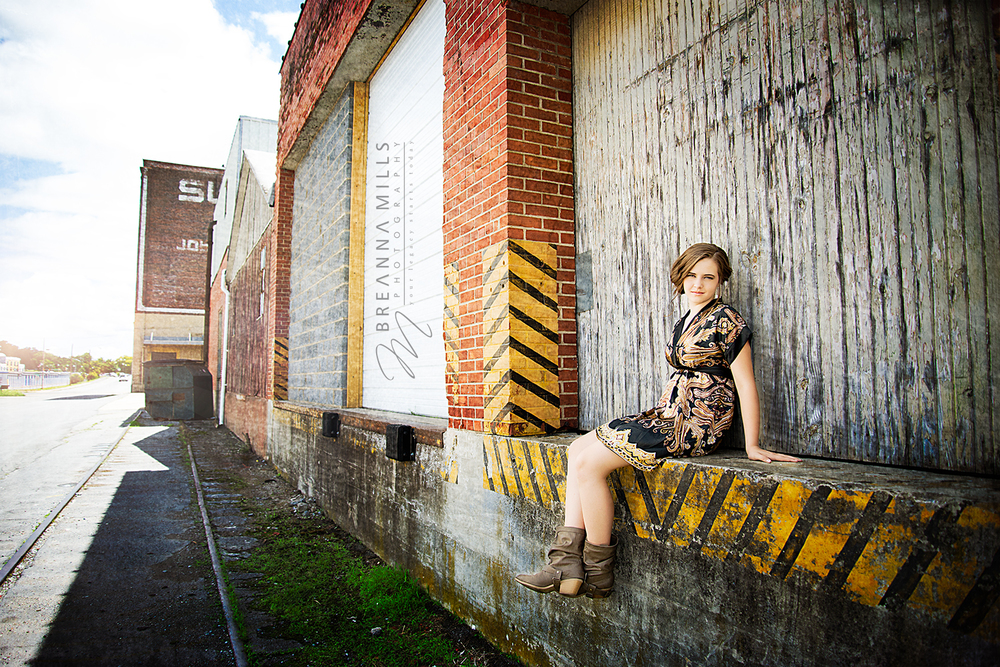 Johnson City, TN Senior and Model photographer, Breanna Mills Photography captures this high school senior, model in downtown Johnson City, TN
