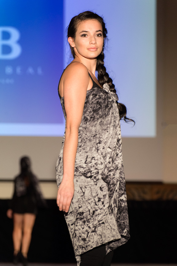 Reanna Eddie rocking  Effervescence  from the Kathy Beal Signaturein last year's Santa Fe Fashion Week runway show.