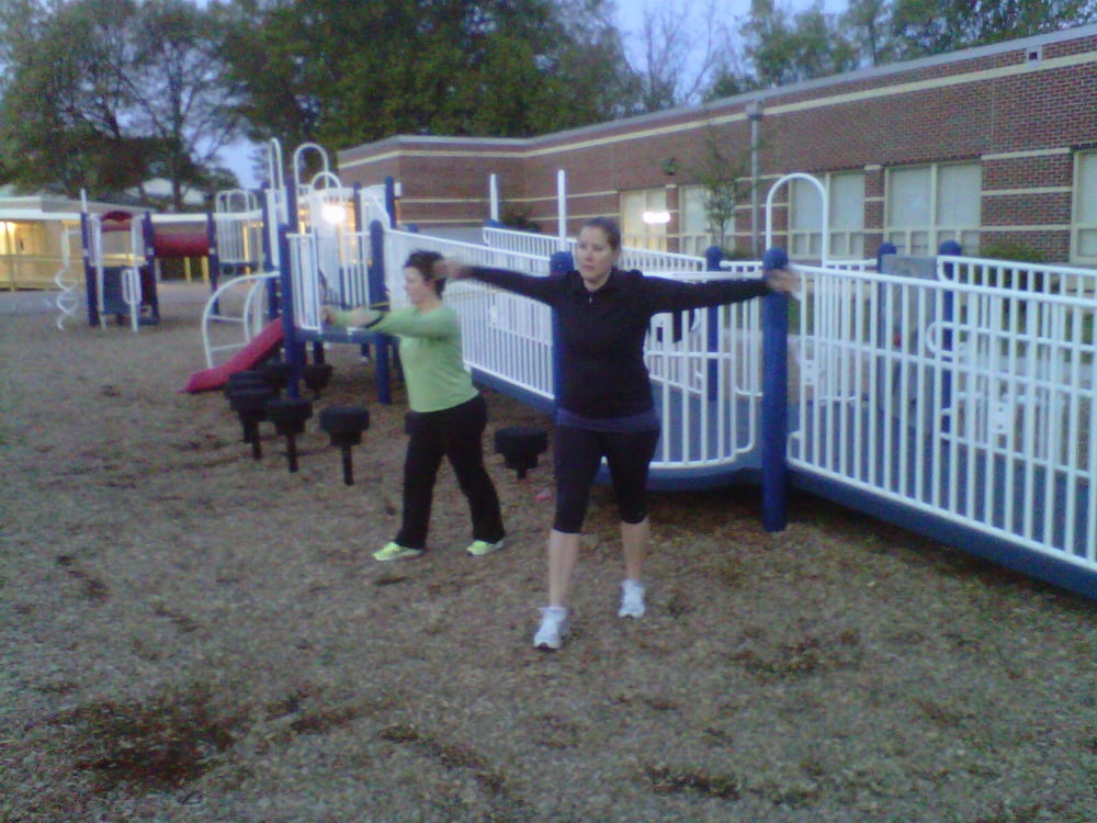 Here's a mom's group at an outdoor Fitness Circle