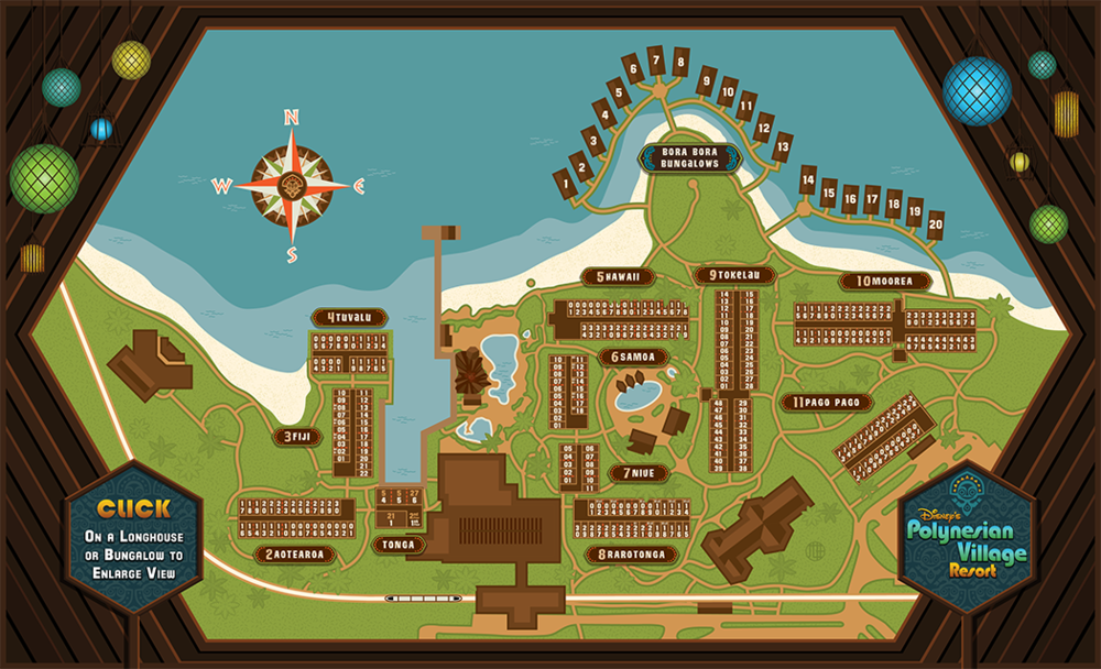 Polynesian Village Rooms Map Jlh Omnimedia
