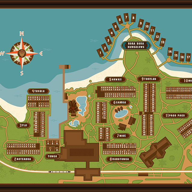Polynesian Village Rooms Map