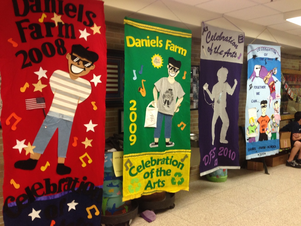 Past Celebration of the Arts banners